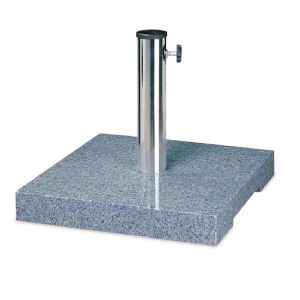 Robert Dyas Heavy Duty Granite Parasol Base Square Finish