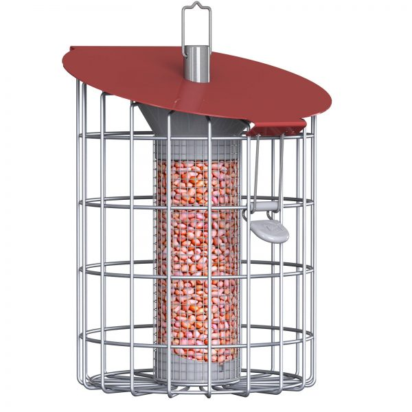 Roundhaus Nut Bird Feeder - Chinese Red