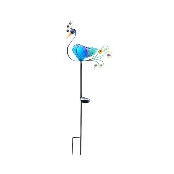 Smart Garden Peacock Stake Solar Light