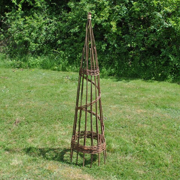 Spiral Willow Garden Obelisk (1.5m)