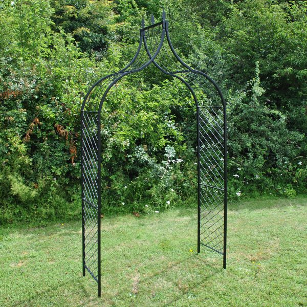Versailles Metal Decorative Garden Arch with Ground Spikes