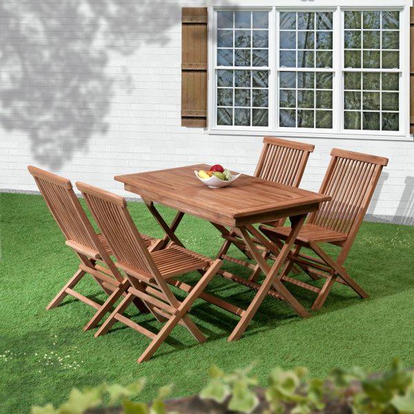 Bali Folding 4 Seat Teak Garden Dining Set
