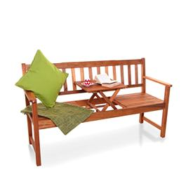 BillyOh Windsor Pop Up 3 Seater Garden Bench with Table - Acacia Pop Up Bench