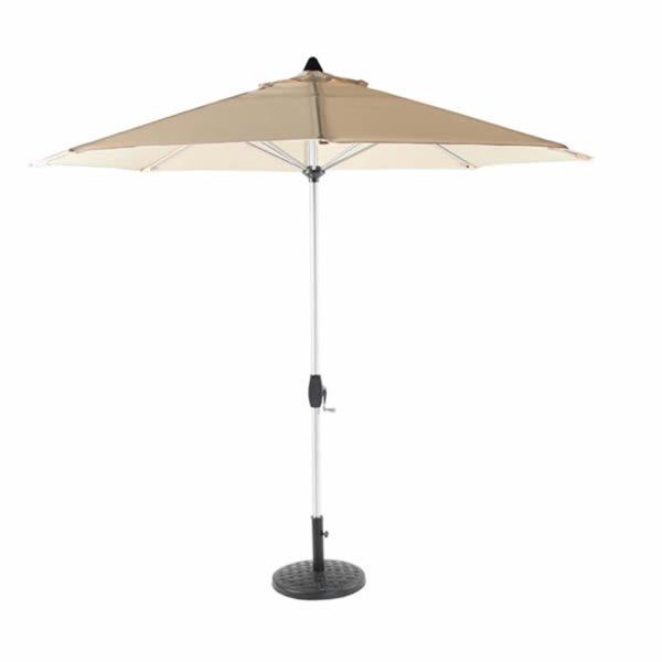 Bramblecrest brushed aluminium parasol 3m sand