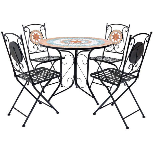 Charles Bentley Terracotta 5-Piece Dining Set