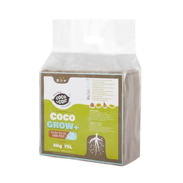 Expanding coco grow plus compost - 75 litres 5kg