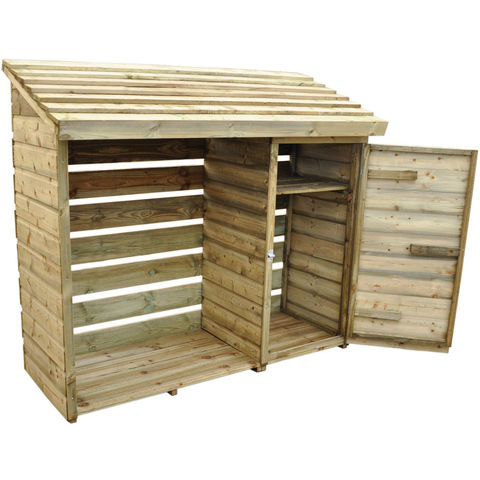 Forest Forest 152x176x69cm Log & Tool Store