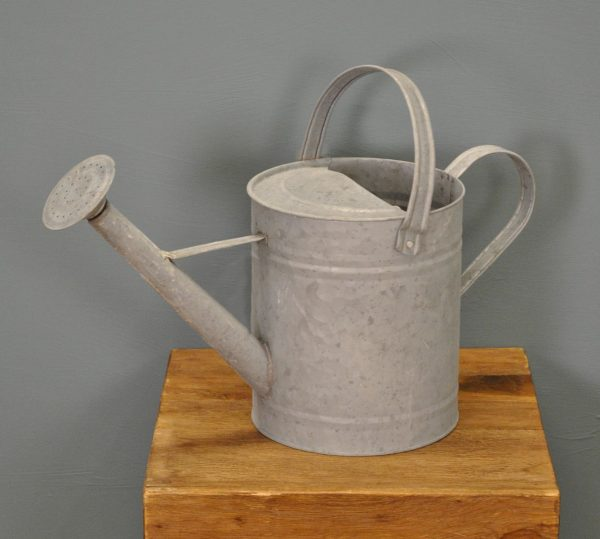 Grey Zinc Watering Can by Fallen Fruits (3.5 Litres)