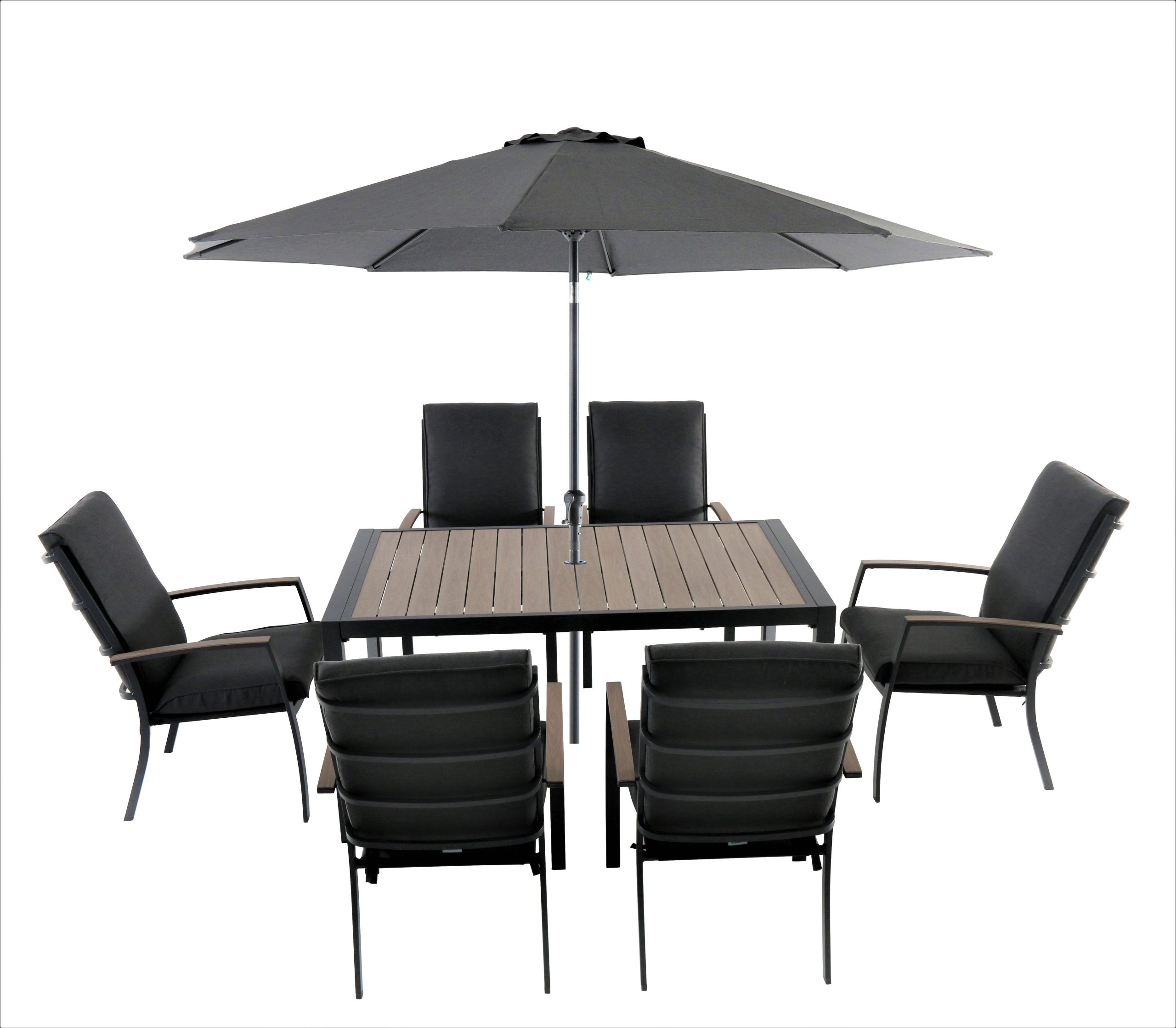 LG Outdoor Milano 6 Seat Dining Set with Highback ...