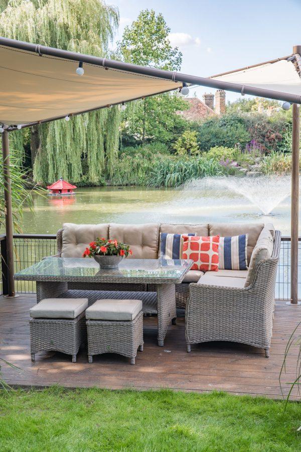 LG Outdoor Saigon Rectangular Modular Dining Set