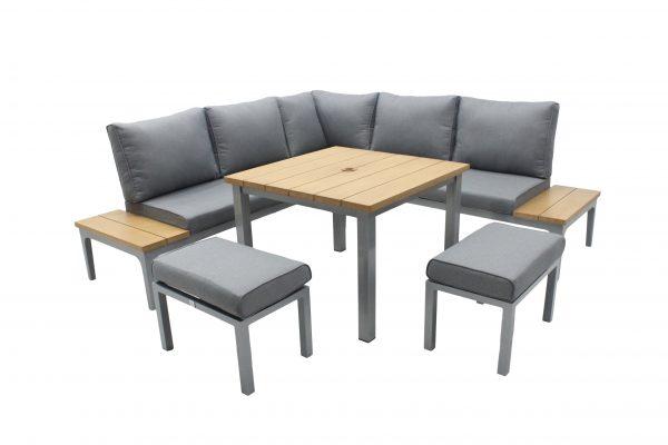 LG Outdoor Siena Cushioned Modular Dining Set (Light/Modern Grey)