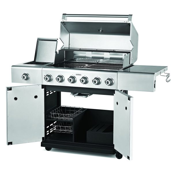 Outback Jupiter 6-Burner Hybrid Gas & Charcoal Barbecue - Stainless Steel
