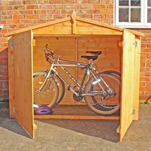 Shire Apex Shiplap With Floor Bike Store