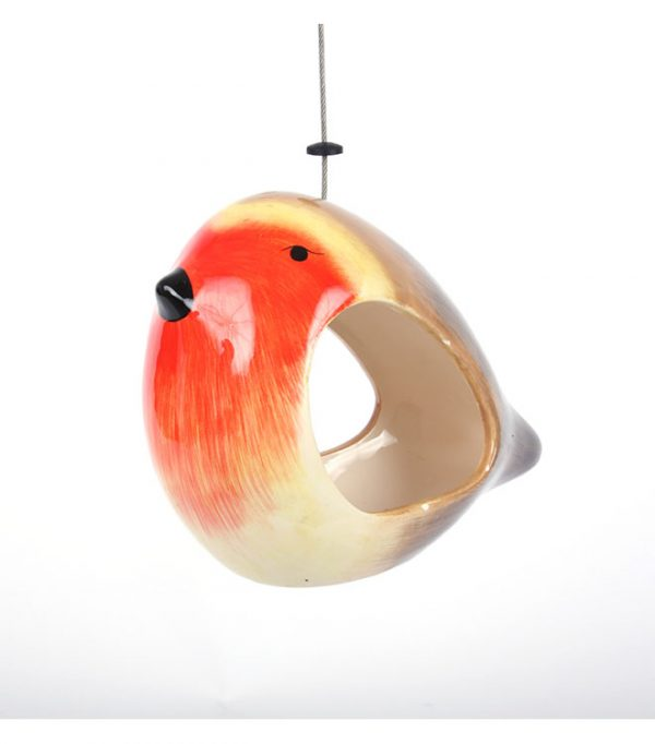 Wildlife World Ceramic Robin Bird Feeder