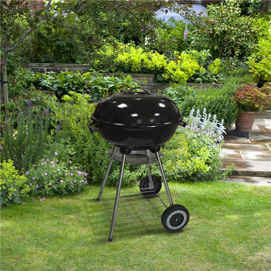 BillyOh Kettle BBQ Charcoal Grill Portable Outdoor Barbecue Black Round 44cm - Kettle Charcoal BBQ Grill