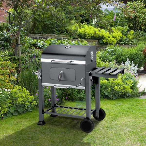 BillyOh Texas Smoker BBQ Charcoal Grill Portable Outdoor Barbecue Grey 115x65x107cm - Smoker Grill Portable BBQ