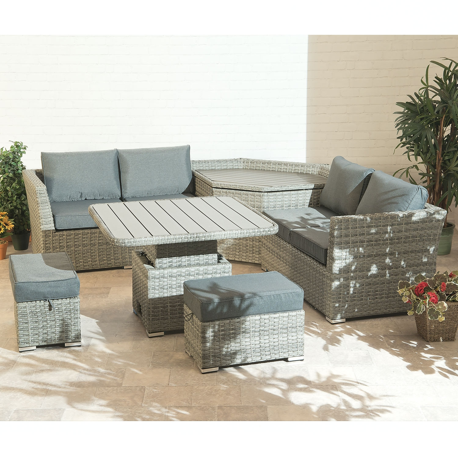 Better Homes And Gardens Replacement Cushions Azalea Ridge, Cambridge Garden Furniture Corner Sofa Patio Set Collection With Storage And Adjustable Table