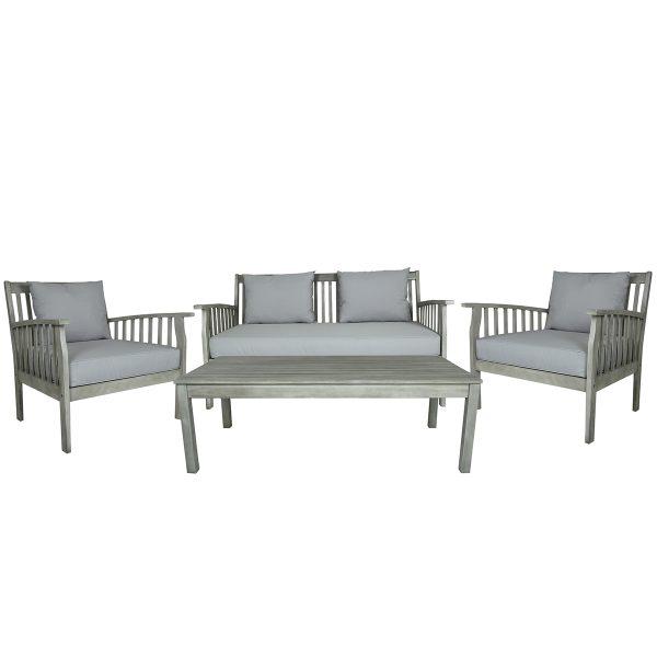 Charles Bentley FSC Acacia Washed Wood Lounge Set