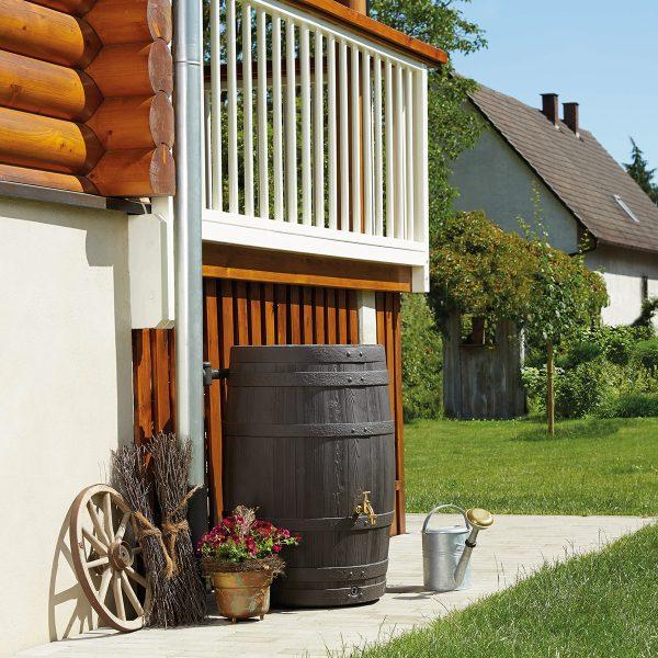 Garantia Barrica Barrel Water Butt 260L - Dark Brown