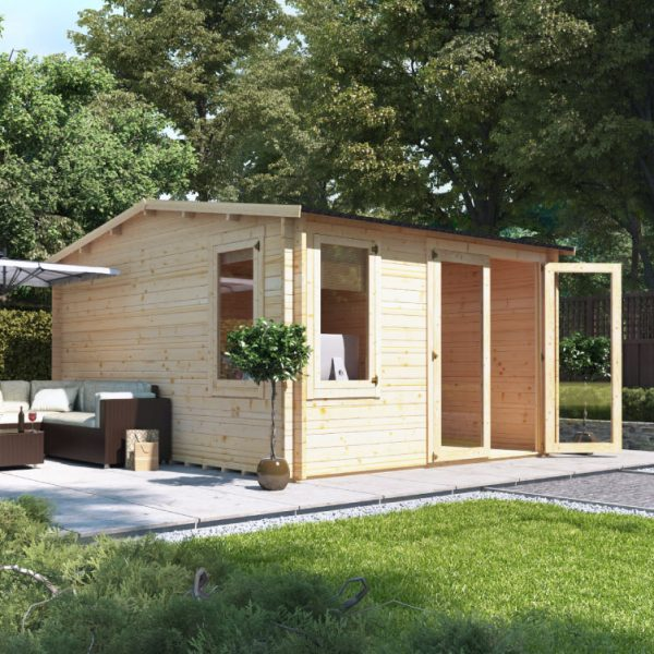 3.5m x 4.5m BillyOh Devon Log Cabin - 28,44