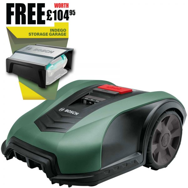 Bosch INDEGO M+ 700 CONNECT 18v Cordless Robotic Lawnmower 190mm 1 x 2.5ah Integrated Li-ion Charger