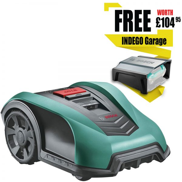 Bosch INDEGO S+ 350 CONNECT 18v Cordless Robotic Lawnmower 190mm 1 x 2.5ah Integrated Li-ion Charger