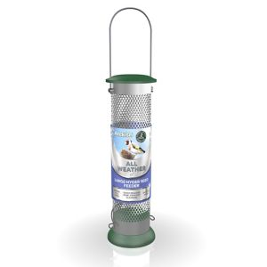 Peckish Plastic & steel Seed & nyger All weather Bird feeder 0.7L