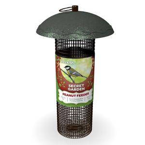 Peckish Secret garden Steel Peanut Bird feeder 0.7L