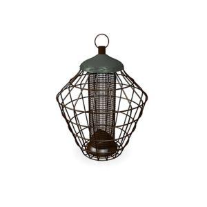 Peckish Secret garden Steel Peanut Squirrel proof Bird feeder 0.7L