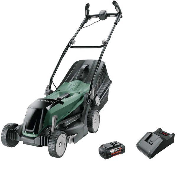 Bosch EASYROTAK 36-550 36v Cordless Rotary Lawnmower 380mm 1 x 4ah Li-ion Charger