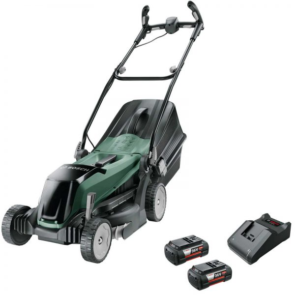 Bosch EASYROTAK 36-550 36v Cordless Rotary Lawnmower 380mm 2 x 4ah Li-ion Charger