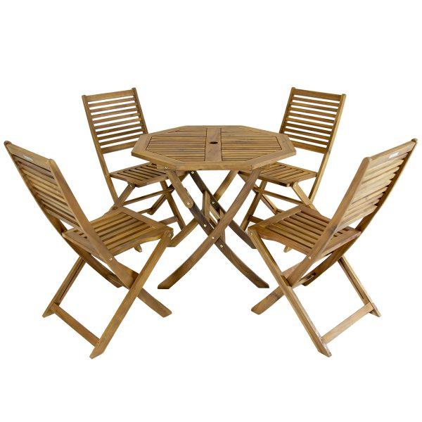Charles Bentley Hardwood Octagonal Garden Dining Set