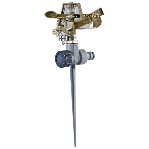 Draper All Metal Impulse Sprinkler - Grey and Gold