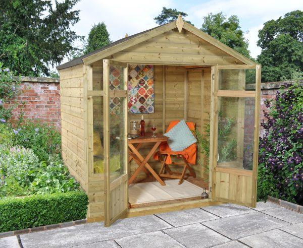 Forest Garden Bloxham Summerhouse - 7 x 5 Shiplap Apex Pressure Treated (ASSEMBLED)