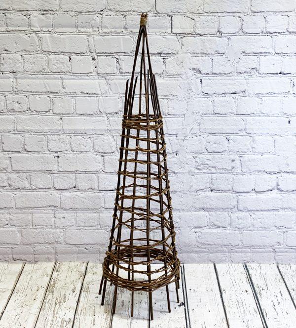 Rustic Willow Garden Obelisk (1.2m)