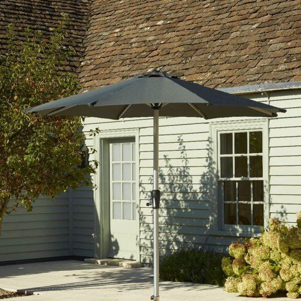 Bramblecrest brushed aluminium parasol 3m grey