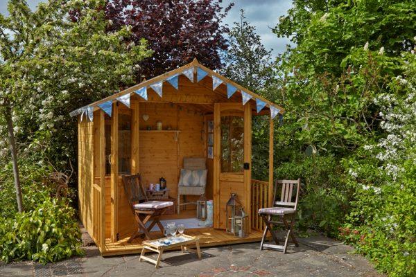 Forest Garden 8 x 8 Hollington Summerhouse (ASSEMBLED)