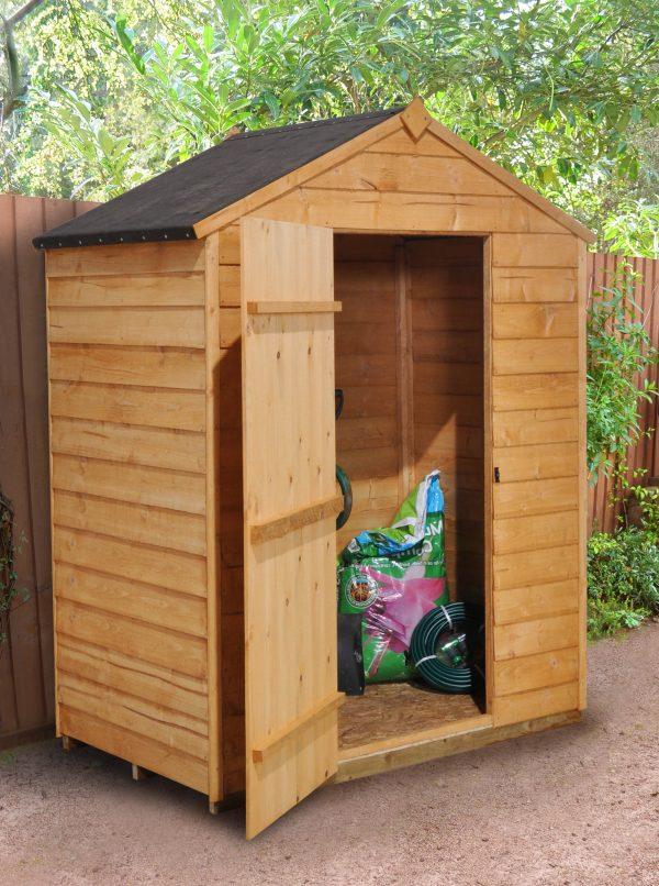 Forest Garden Apex Overlap Dipped No Window 5 x 3 Wooden Garden Shed (ASSEMBLED)