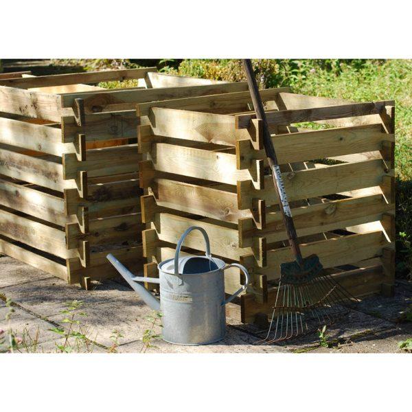 Compost box - FSC timber 93 × 93 × 71cm