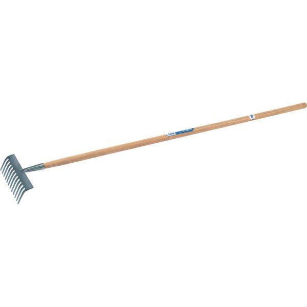 Draper Carbon Steel Garden Rake Ash Handle