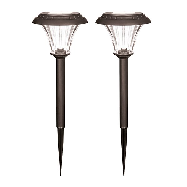 Duracell Solar LED Garden Pathway Lights Large (Twin Pack)