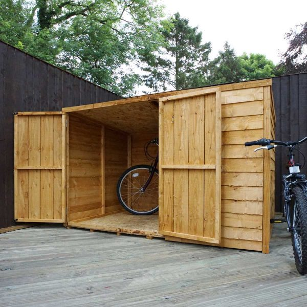 Mercia Overlap Pent Bike Store - 4 x 6ft