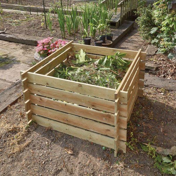 Compost box - FSC timber 100 × 100 × 61cm