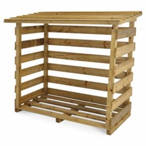 Blooma Beni Pressure treated Wooden Small Log store