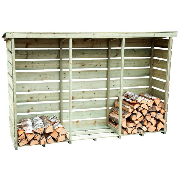 Charles Bentley FSC Nordic Spruce Triple Log Store
