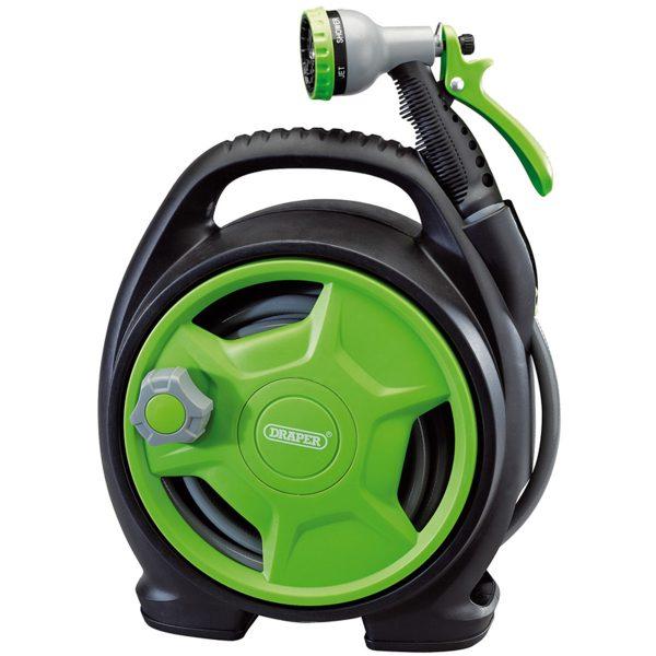Draper Premium 10M Mini Hose Reel Set - Black & Green