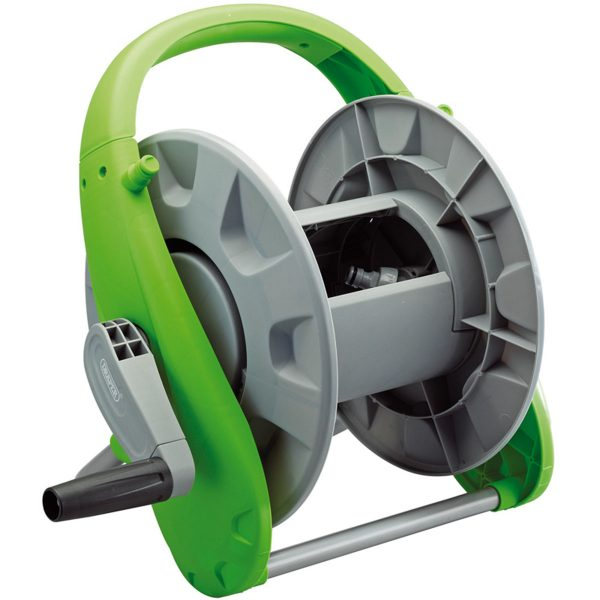 Draper Premium Garden Hose Reel - Grey and Green