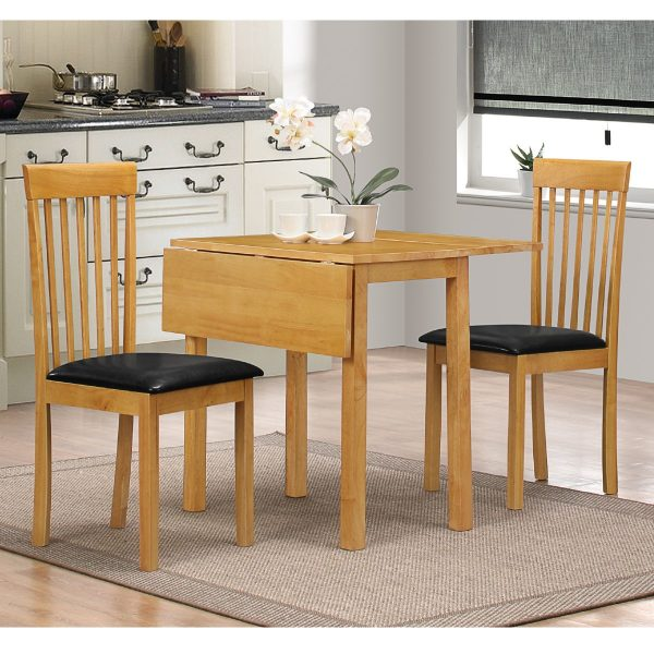 Heartlands Furniture Atlas Dropleaf Dining Set with 2 Chairs Oak