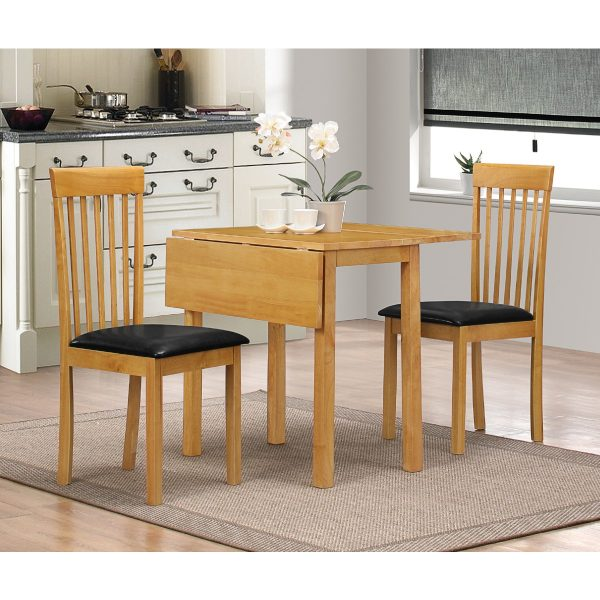 Heartlands Furniture Atlas Drop Leaf Dining Set With 2 Chairs Natural