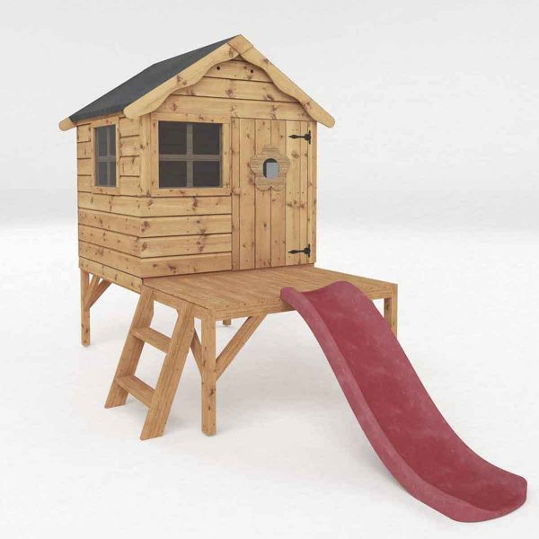 Mercia Snug Playhouse With Tower & Slide